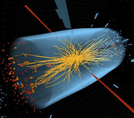 """计算机模拟的希格斯粒子(""""上帝粒子"""")衰变.jpg"""